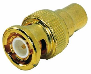 NEUTRIK, Contrik - Adapter Cinch-Buchse auf BNC male, Gold - CCFBNC-M